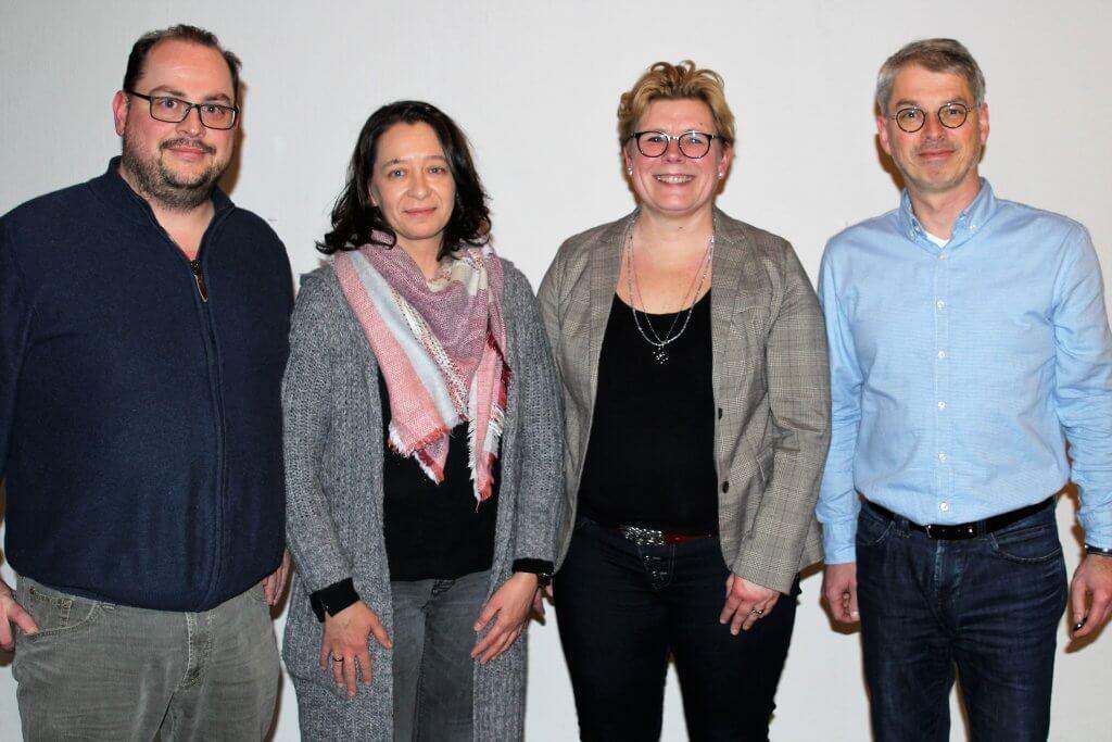 Der neue Vorstand des JSG-LIT 1912 e.V. bestehend aus vier Personen